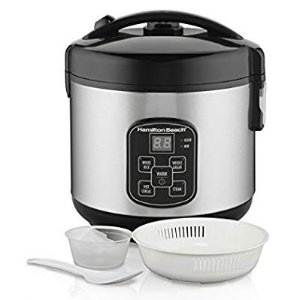 $25.49Hamilton Beach (37518) Rice Cooker, 4 Cups uncooked resulting in 8 Cups Cooked with Steam & Rinse Basket