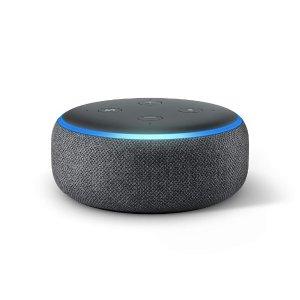 $39.99Echo Dot (第3代最新款) 智能家庭音箱 内置智能语音助手Alexa