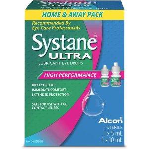 $13.47(原价$19.99)SYSTANE ULTRA 无防腐剂人工泪液/滴眼液10ml+5ml套装
