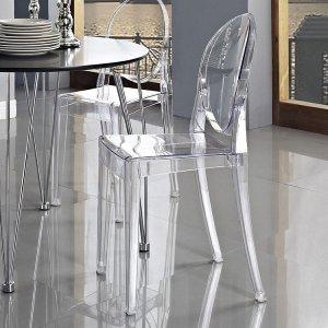 $54.5Flash Furniture 幽灵透明餐椅