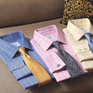 额外9折 低至$26.55Charles Tyrwhitt 伦敦高端商务男士经典半定制衬衫热卖