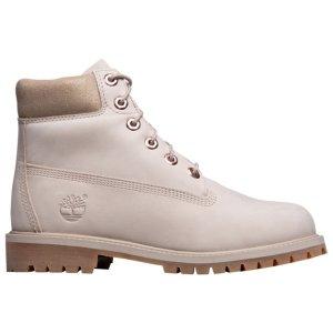 Timberland女大童款工装靴  米色