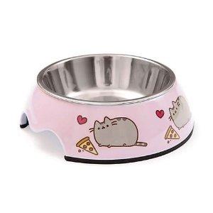 PusheenPizza Stainless Steel Cat Bowl