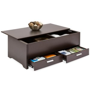 $144.99Modern Coffee Table w/ Storage Compartments
