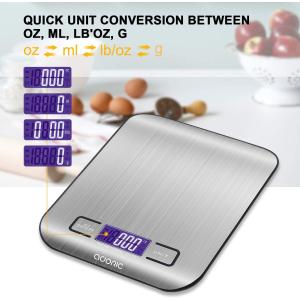 折后€9.38 收精准电子秤ADORIC 厨房专用电子秤 最大5kg 烹饪、烘培的好帮手