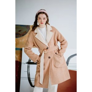 Petite Studio40% Off When You Buy 2Mila Reversible Wool Coat - Camel