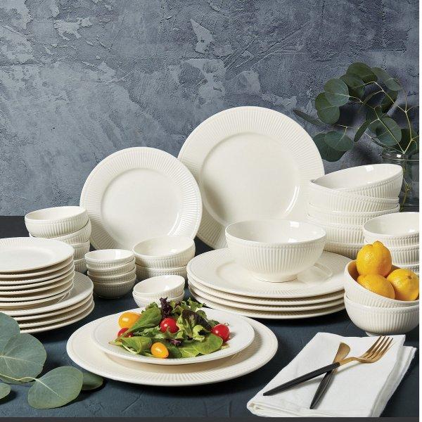最爱白色餐具!Macys最受欢迎餐具42件套