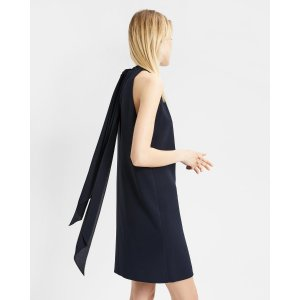TheoryCrepe Clean Halter Day Dress