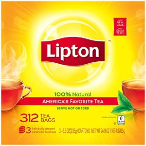 $7.49Lipton Black Tea Bags, America's Favorite Tea, 312 ct