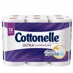 $5.7 Cottonelle Ultra ComfortCare Family Roll Toilet Paper Bath Tissue, 12 Count