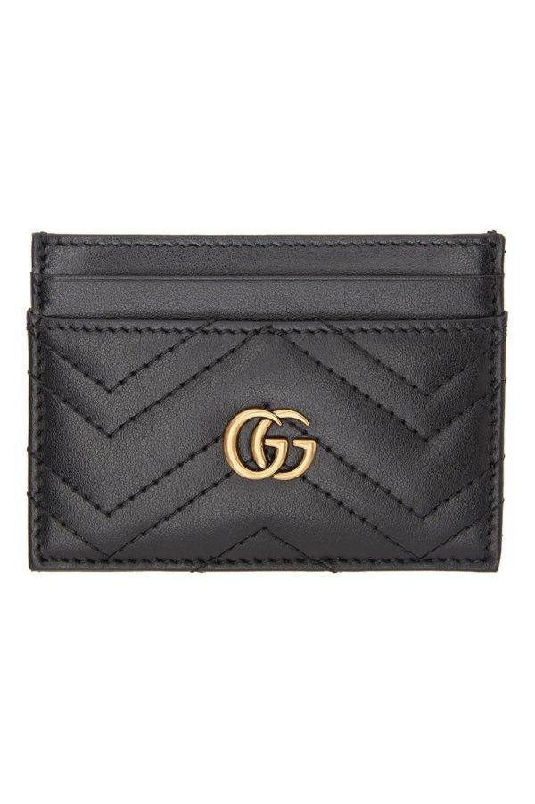 GG Marmont 2.0 黑色卡包
