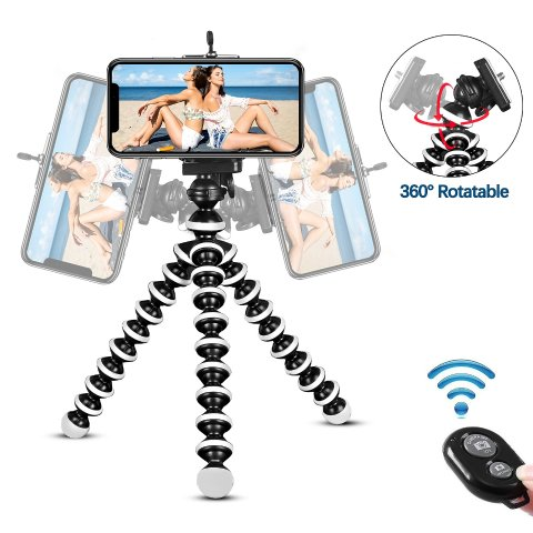 KAMISAFE Portable Cell Phone Tripod