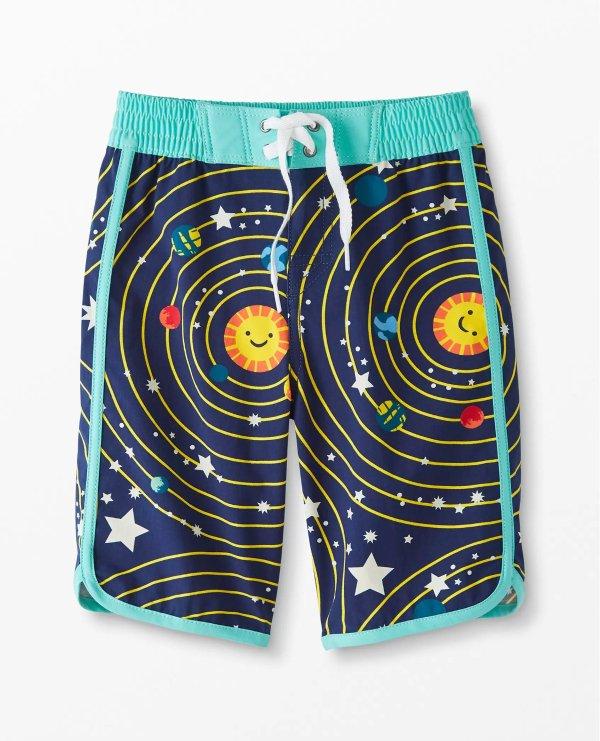 太空图案泳裤