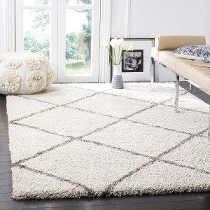 $61.49Safavieh Hudson 摩洛哥菱形图案地毯 象牙色 4*6