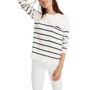 MadewellThompson Nautical Stripe Pocket Pullover Sweater