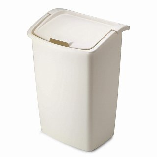 $11.94Rubbermaid Dual-Action Swing Lid Trash Can for Home, Kitchen, and Bathroom Garbage, 11.25 Gallon, Off-White Bisque @ Amazon