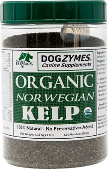 Nature's Farmacy Dogzymes Norwegian Kelp Dog Supplement, 3-lb jar
