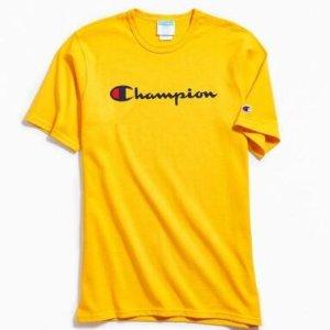 $19.99Champion 男款亮黄色短袖T恤