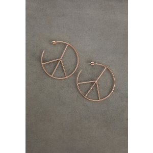 BCBGenerationPeace Sign Hoop Earring