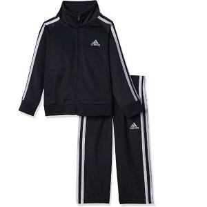 adidas 男童运动服饰2件套,蓝黑2色特价