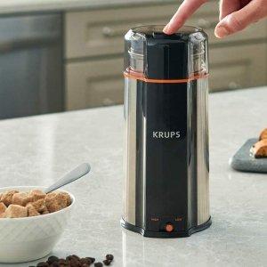 $39.99(原价$79.46)史低价:KRUPS 三合一 超静音强力 咖啡豆、香料、药材研磨机