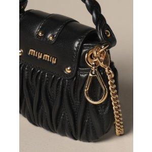 Miu Miunano bag in matelasse leather