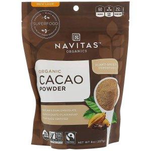 $4.65 糕点制作必备Navitas 有机可可粉 8 oz.