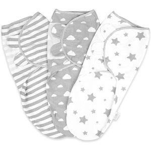 婴儿襁褓包裹新生儿毯 0-3 个月