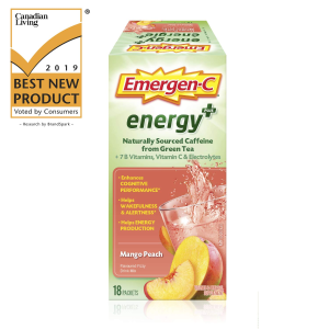 $11.85(原价$18.99) 芒果桃子味史低价:Emergen-C Energy+ 给你元气满满的一天 你的能量补剂