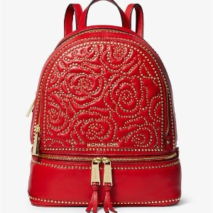 d2869d7eb33 Michael KorsRhea Medium Rose Studded Leather Backpack. $328.00. Michael  Kors Rhea Medium ...
