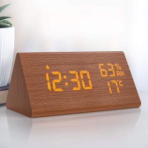 折后€18.54起 原价€29.99Nbpower 木纹桌面闹钟 可同时设置不同闹钟 触摸控制