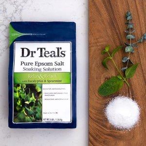 $6.99(原价$8.98)Dr Teal's 桉树留兰香泡沫浴 1.36kg 含精油混合物 放松肌肉