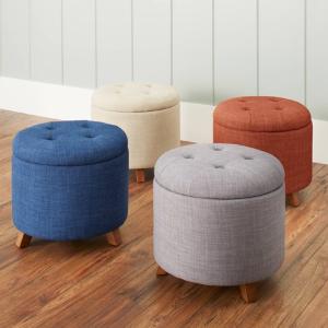 $49.99Better Homes & Gardens 圆形绒面储物座椅 多色可选
