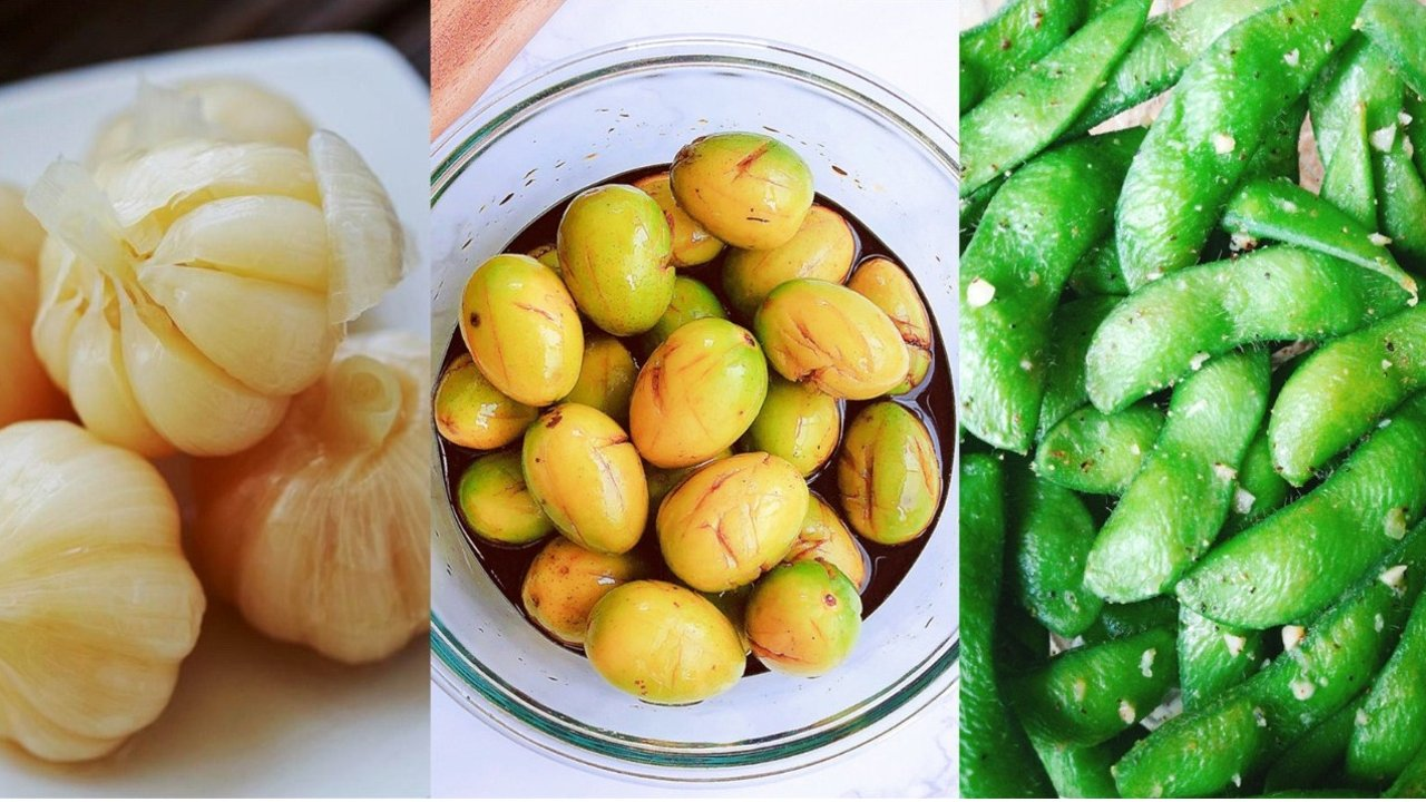 解暑开胃腌制小菜做法大全 | 速成泡菜、酸甜糖蒜、韩式脆萝卜、盐渍李子橄榄(附毛豆花式吃法)