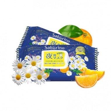 28片 日本Saborino晚安夜间专用面膜保湿滋润清洁免洗28片