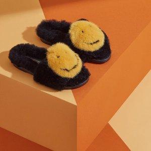 低至5折 £297收封面毛绒笑脸鞋Anya Hindmarch 官网大促开启 笑一笑没什么大不了