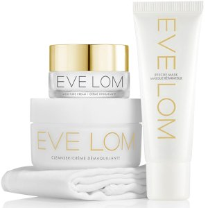 Eve Lom卸妆膏+急救面膜+卸妆巾+保湿面霜套组