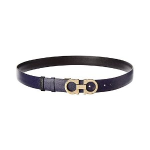 Salvatore FerragamoAdjustable & Reversible Gancini Leather Belt