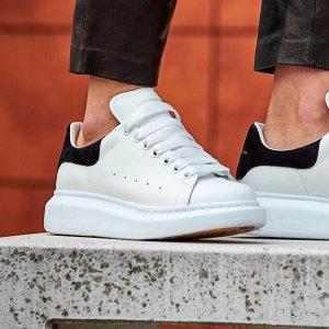 黑色$442(原价$650)额外85折Alexander Mcqueen 小白鞋定价优势 码全多色 腿精快来
