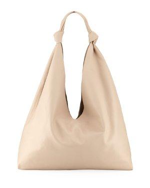 THE ROW Bindle Double-Knots Leather Hobo Bag | Neiman Marcus