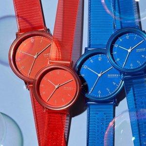 低至3折 €50收封面同款Skagen 手表大促销 大热糖果色手表 还有最流行金属表带