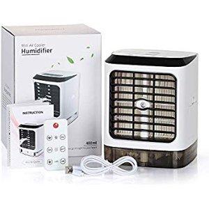 Portable Air Conditioner Small Desktop Fan Mini Evaporator Humidifier