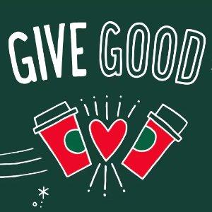 买一赠一Starbucks 圣诞特饮分享日活动