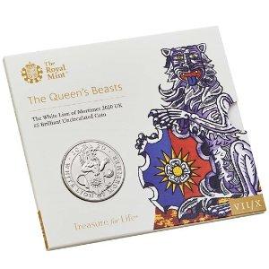 The Royal Mint莫蒂默白狮纪念币 普铸版