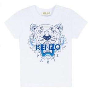 Kenzo白色虎头T恤