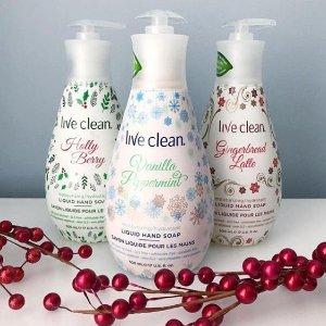 $3.97(原价$10.02)Live Clean 节日版清新保湿洗手液 500ml