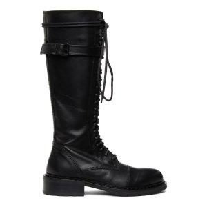 Ann Demeulemeester再降价黑色系带长靴