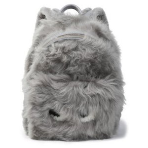 $370.5 Anya Hindmarch Eyes Leather-Trimmed Shearling Backpack