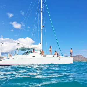 8折 $549起 含6人浮潜装备夏威夷火奴鲁鲁 2小时双体船私人包船套餐