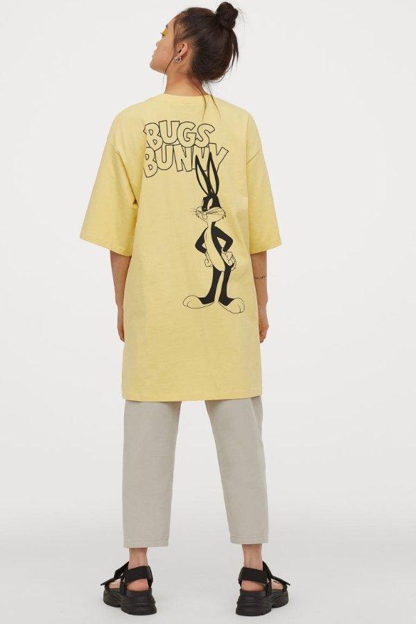 浅黄色T恤